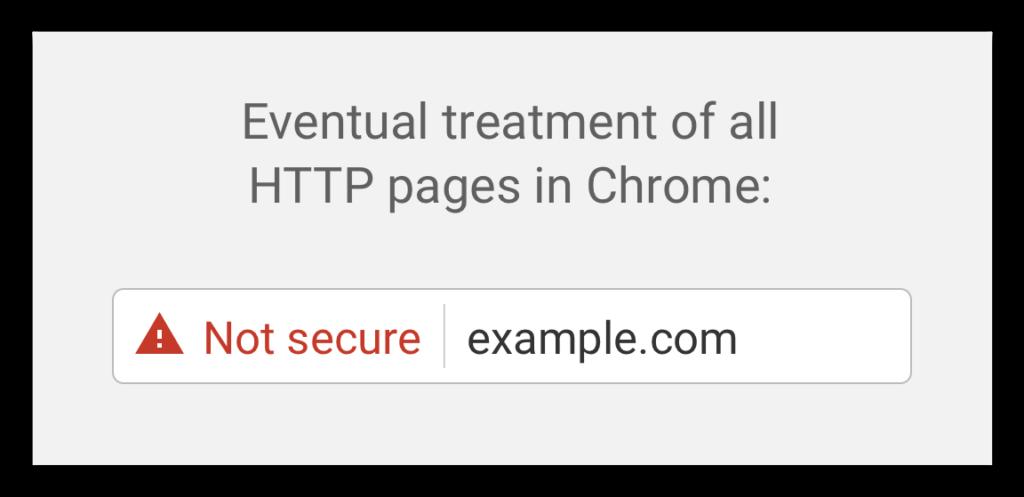 Google chrome not secure behavior